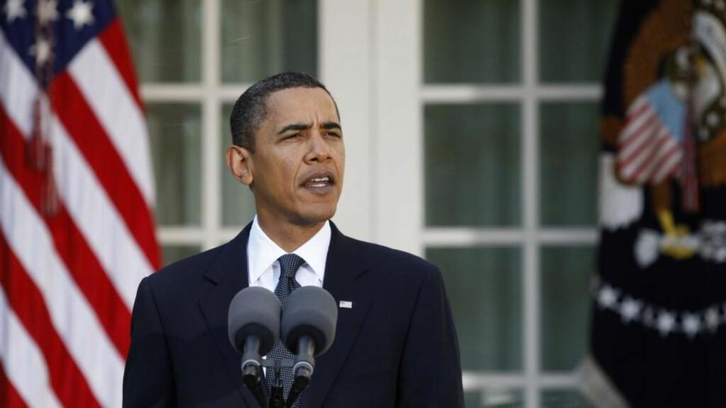 TAKKETALE: Fredsprisvinner Barack Obama holdt fredag «krigsråd» hvor han drøftet situasjonen i Afghanistan med sine nærmeste rådgivere. Foto: REUTERS / Jason Reed / SCANPIX