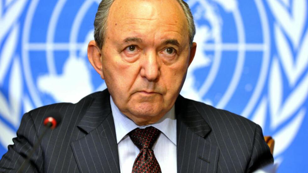 GOLDSTONE-RAPPORTEN: FNs råd for menneskerettigheter støtter Richard Goldstones rapport om Israel og Hamas angivelige brudd på menneskerettighetene under Gaza-konflikten. AFP PHOTO / FABRICE COFFRINI/FILES