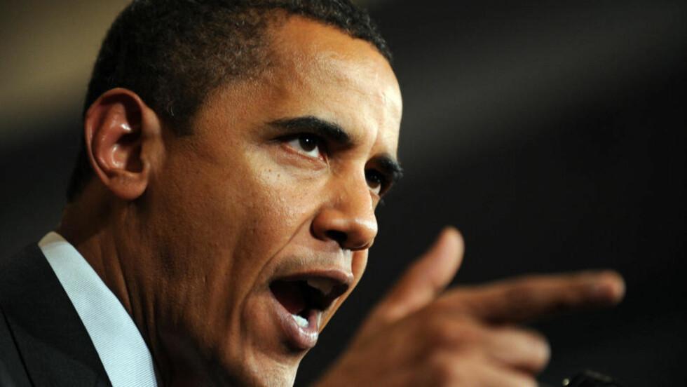 - UÆRLIG OG MISVISENDE: Det kaller USAs president forsikringsselskapenes oppførsel. AFP PHOTO/Jewel SAMAD