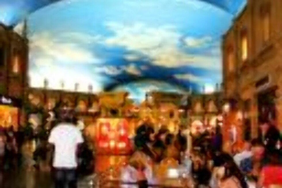 HIMMELHVELVING: Kunstig himmel malt i taket innendørs på hotel Caesar.