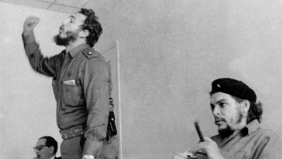 60-TALLET: Fidel Castro, her med Ernesto «Che» Guevara (t.h.) var en evig hodepine for CIA, som forsøkte å ta livet av den cubanske presidenten en rekke ganger. Søsteren ønsket ikke å bidra til akkurat disse planene, men var forøvrig på amerikanernes side. Foto: AFP / CUBAS STATLIGE ARKIV