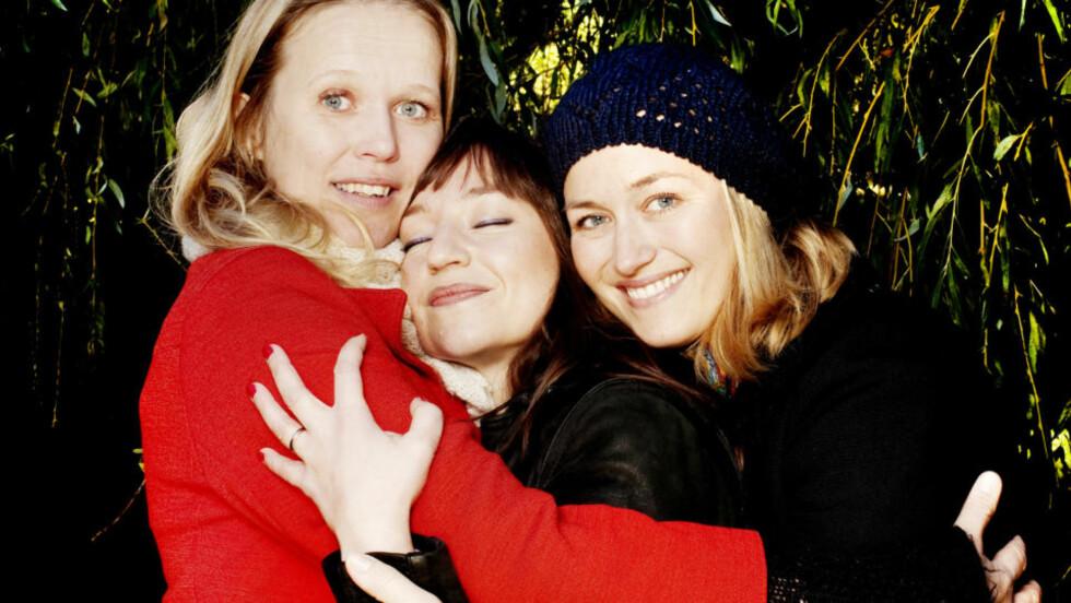 Venner for livet: Nina Strand, Andrea Bræin Hovig og Kjersti Kvam er bestevenner. Men bare som et trekløver. - Kjersti og jeg er ikke bestevenner, sier Nina.