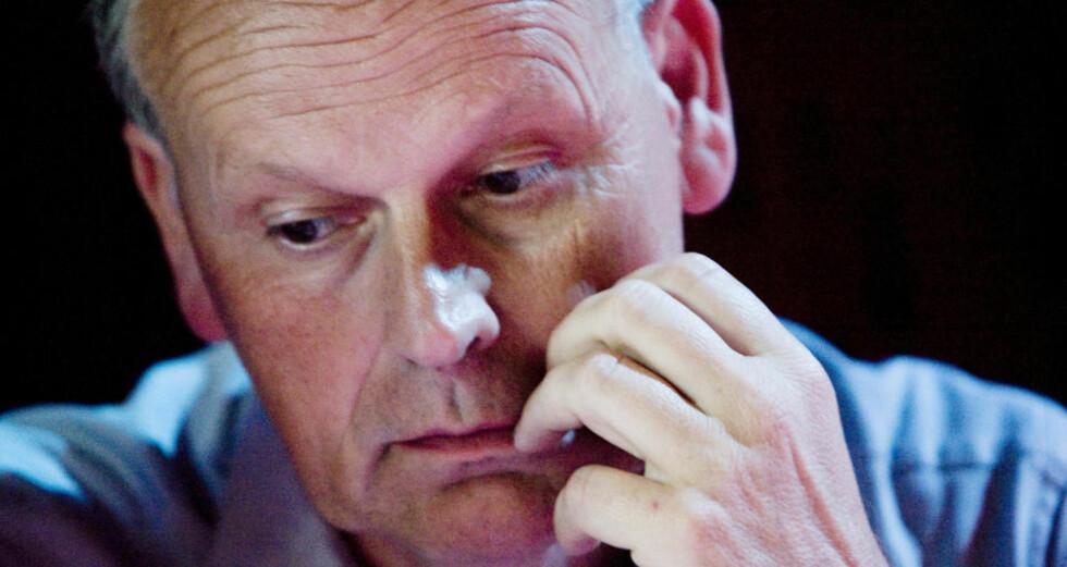 HOLDER APPELL: Høyres Michael Tetzschner innleder på stiftelsesmøtet for kampanjeorganisasjonen Stopp Datalagringsdirektivet i kveld. Høyre sitter på vippen når direktivet skal behandles i Stortinget. Foto: SCANPIX