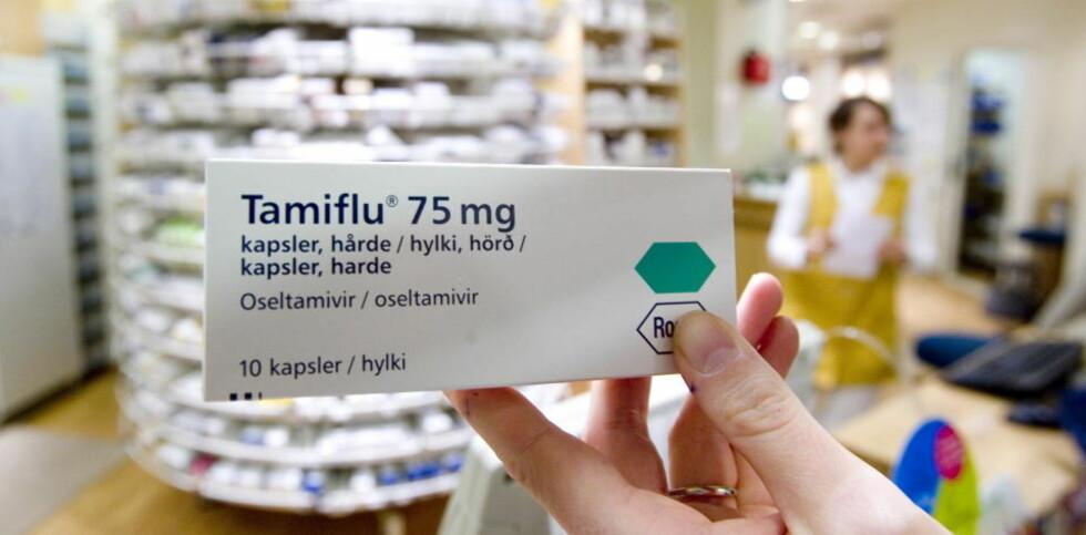 BLIR RESEPTFRI: Influensamedisinen Tamiflu virker også forebyggende mot influensa.  Foto: Tore Bergsaker/Dagbladet