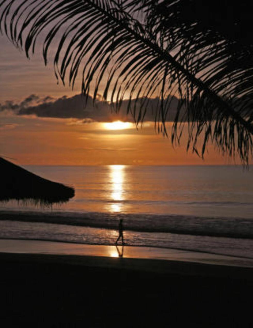 VAKKERT: Strendene i Gambia er i verdenstoppen. Solnedgangen i Atlanterhavet kan ta pusten fra den mest bortskjemte.