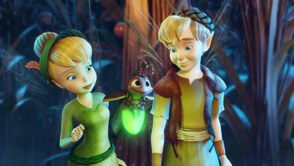 NYTT PAR:  Før Tingeling møtte Peter Pan var hun gode venner med alven Terrence. Animasjonen i «Tingeling og den forsvunne skatten» er kanskje glatt, men figurene er morsomme, bildene flotte og detaljrikdommen imponerende