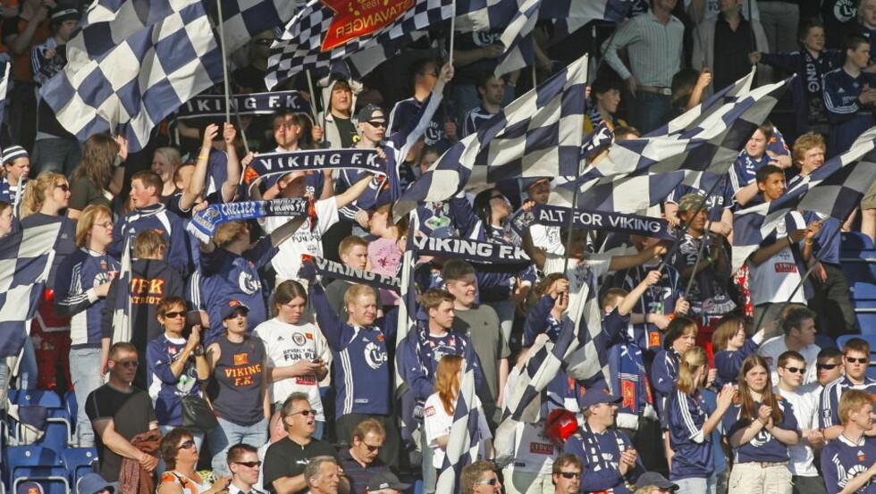 TRENGTE FORANDRING: Viking-fansen synes resultatene var for dårlige med Uwe Rösler. Foto: ERLING HÆGELAND / Dagbladet