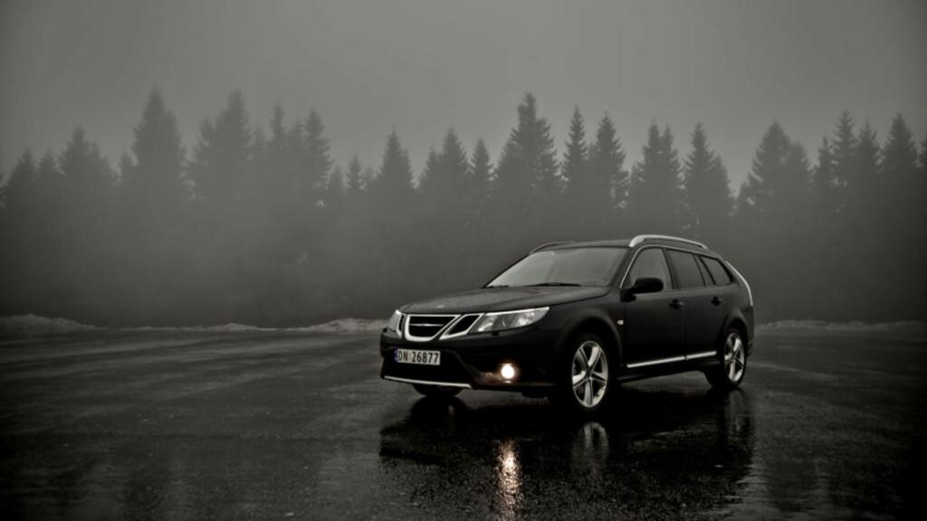 TØFF: Ingen tvil om at du har en rå Saab foran deg. Foto: Krister Sørbø / Dagbladet