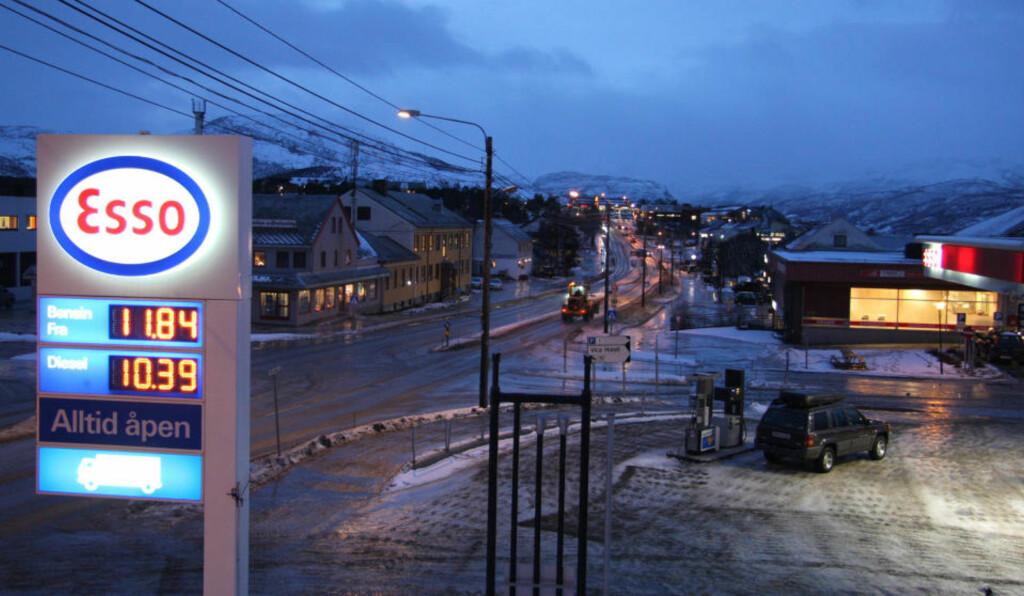 RANET: To kvinnelige ansatte på Esso i Bossekop ble ranet av en mann som skulle kurse Statoil-ansatte. Etter hvert gikk det opp for mannen at han var på feil stasjon. Foto: Foto: Vidar Kristensen / Altaposten