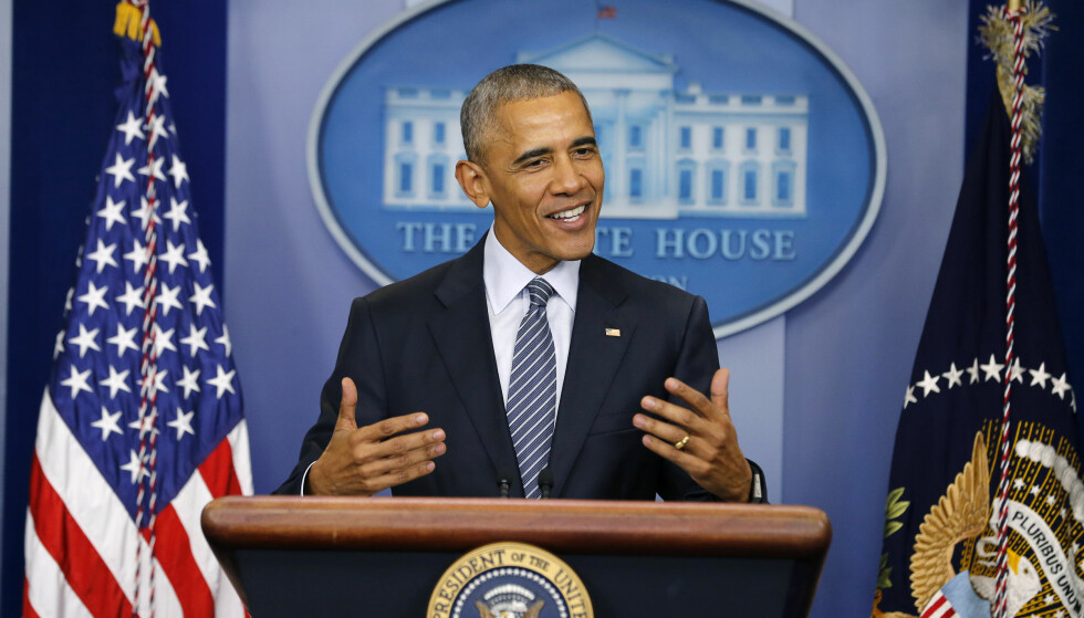 SNAKKET UT: Barack Obama holdt mandag sin første pressekonferanse etter valget. Foto: Reuters / NTB scanpix