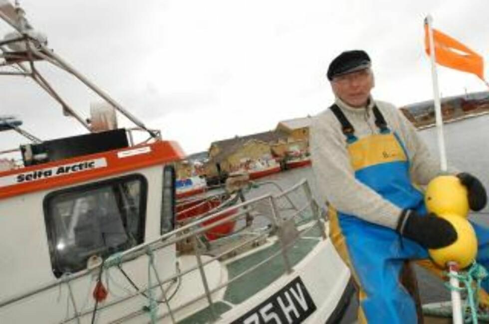 - TOK REGNINGA FOR RØKKE: Fisker og varastyremedlem i Havforskningsinstituttet, Arne Pedersen, mener instituttets krilltokt kun kom Røkke til gode. Foto: Ingjerd Telle.