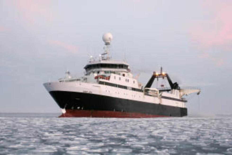 KRILLBÅTEN: Røkkes Saga Sea. Foto: SCANPIX.
