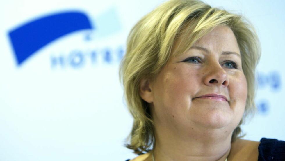 - MISTET GREPET: På lederplass mener avisa Vårt Land at Erna Solberg må trekke seg. Foto: SCANPIX Foto: Morten Holm / SCANPIX