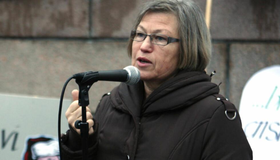 STERK MOTSTANDER: KRFs Laila Dåvøy er blant dem som har reagert sterkest på FrPs forslag om aktiv dødshjelp. Foto: Knut Falch / SCANPIX