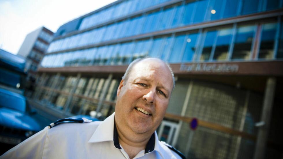 I STREIK? Tillitsvalgte Lars Ole Beichmann i Trafikketaten, sier streikeviljen er stor blant de organiserte i fagforbundet. De har meldt drøye 13000 arbeidere klare til streik. Foto: Håkon Eikesdal