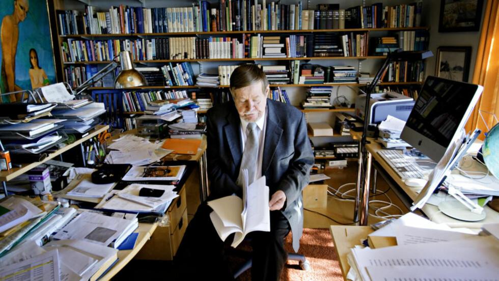 Arbeidsmauren: Her har Arto Paasilinna skrevet de siste av sine 34 romaner. Neste kommer til høsten. Som alltid.