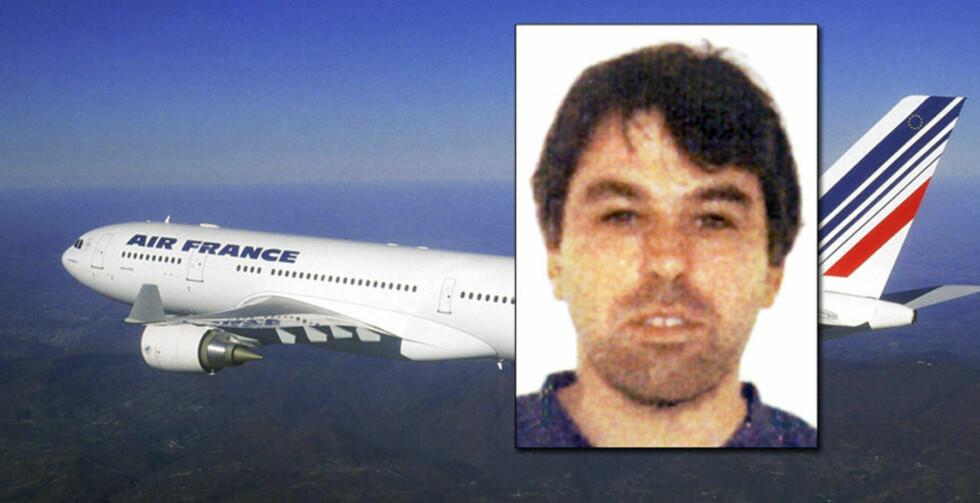 SAVNET OVER ATLANTEREN: Helge Gustafsson (44), som er oppvokst på Askøy, er blant de 228 som er savnet etter Air France-ulykken. Foto: FMC TECHNOLOGIES (GUSTAFSSON) OG REUTERS/SCANPIX (AIRBUS 330-200-MASKINEN)