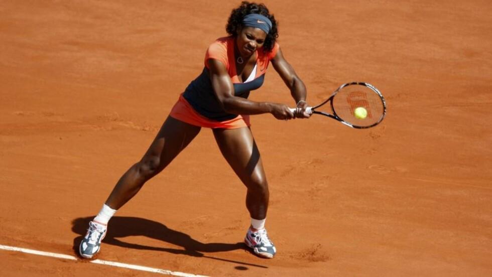 GAME OVER: Serena Williams røyk ut av French Open i kvartfinalen. Foto: REUTERS