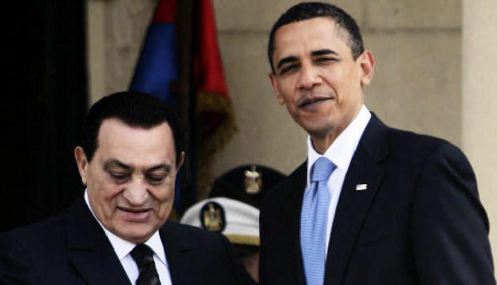 BARACK OG MUBARAK: President Barack Obama ble mottatt av Egypts president Hosni Mubarak i morges. Foto: REUTERS/Amr Abdallah Dalsh/SCANPIX