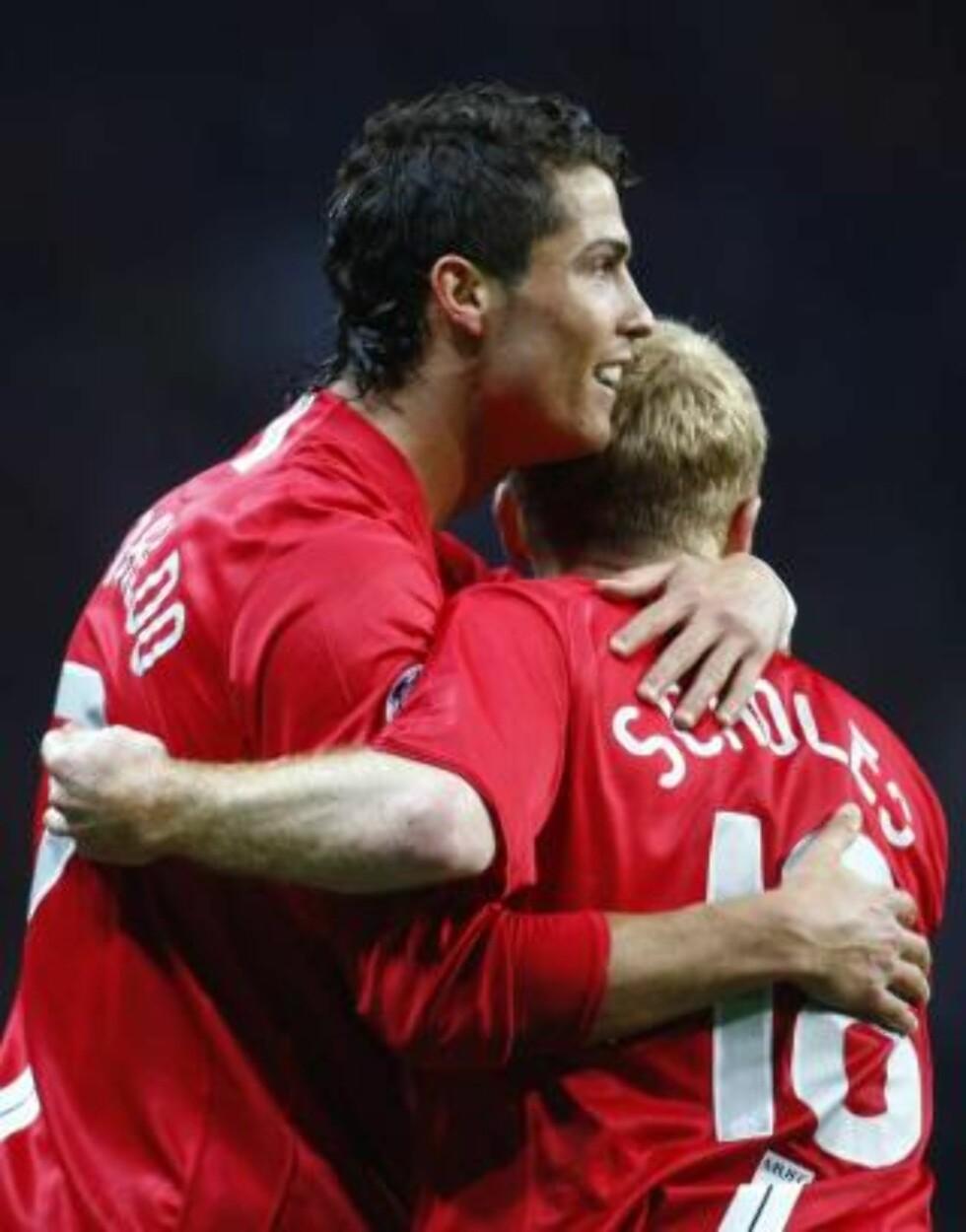 SIER TAKK FOR SIST: Asbjørn Slettemark tror Ronaldo får smake Paul Scholes knotter neste gang de møtes på banen. Foto: REUTERS/Eddie Keogh