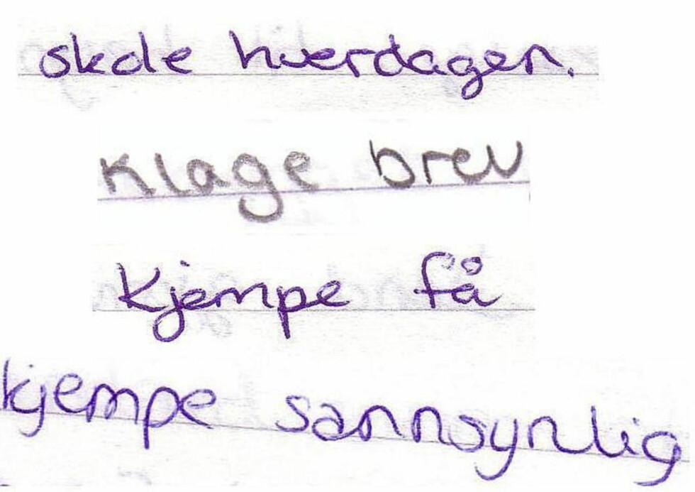 SÆRSKRIVING: I en undersøkelse ved tre videregående skoler fant språkviter Kristin Andvik Hoaas ut at norske elever sliter med å vite hvordan de skal skrive sammensatte ord riktig.