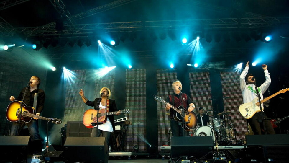 ALBUM NUMMER TO: Og også denne gang er det en konsertinnspilling Askil Holm, Alejandro Fuentes, Kurt Nilsen og Espen Lind byr på. Foto: ANDERS GRØNNEBERG