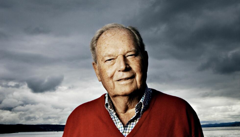 Oslo, 20090708: Erling Lorentzen (86) på sitt landsted på Ostøya i Asker. Foto: Jørn H. Moen / Dagbladet