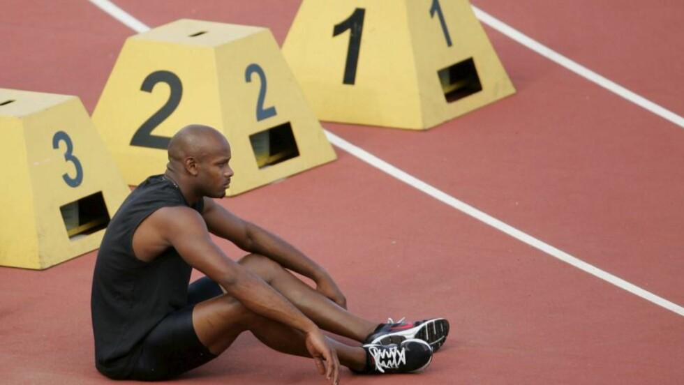 VERDENS NEST RASKESTE: Jamaicanske Asafa Powell løper Bislett Games 3. juli.  Foto: SCANPIX/EPA/SERGIO DIONISIO