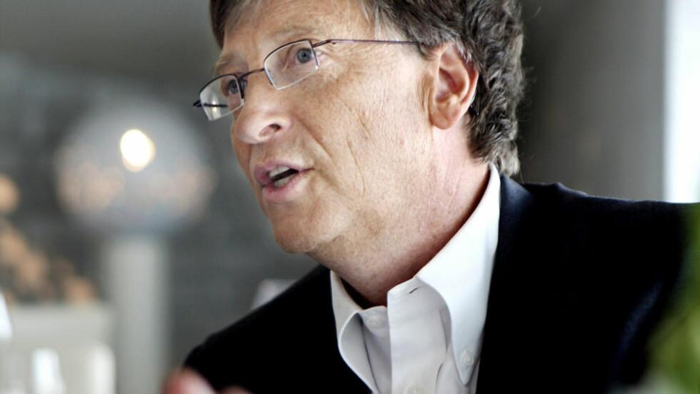 Rik og gavmild: Bill Gates har et voldsomt temperament. Det viste han også i møtet med Magasinet da han svært følelsladd forsvarte massive overføringer av bistand fra rike til fattige land. Fra hans og konas egen stiftelse blar de hvert år opp 13 milliarder kroner til gode formål.Foto: Mette Randem