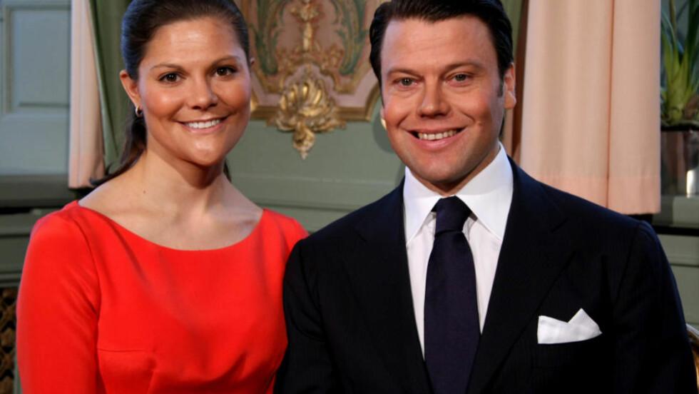 GIFTER SEG: Kronprinsesse Victoria og Daniel Westling.Foto: SCANPIX/AFP PHOTO