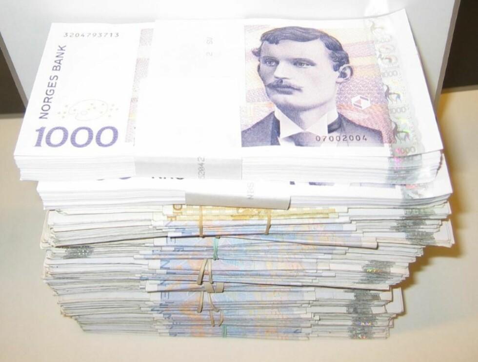 Tatt med én million kroner i bagasjen