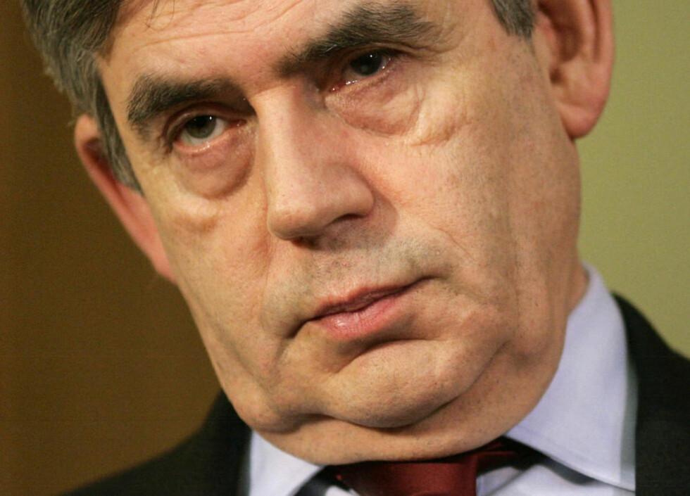INGEN NÅDE: Gordon Brown prøver desperat å gjenskape tillitten til britiske politikere, gjennom å innføre strenge straffer for å ikke registrere privat virksomhet. Foto: AFP PHOTO/Sang Tan/Scanpix
