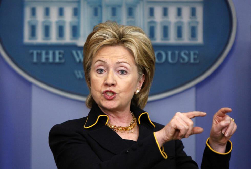 TILFREDS: USAs utenriksminister Hillary Clinton. Foto: JASON REED/REUTERS/SCANPIX