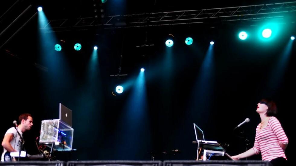 SKJØNNSANG: Men mørket og svetten manglet under M83s konsert på Hove. Foto: Scanpix