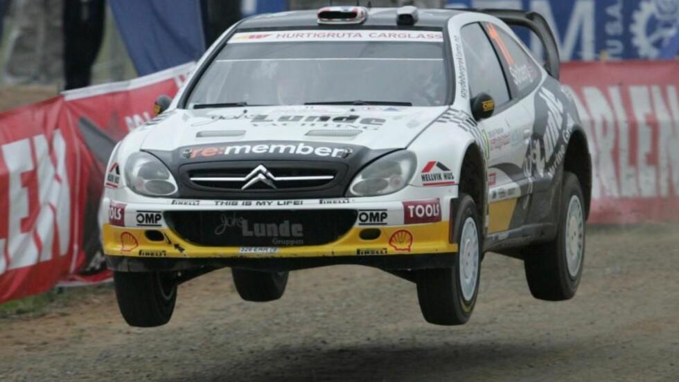 BESTE NORSKE: Petter Solberg er beste norske i Rally Polen med sin fjerdeplass. Finske Hirvonen leder. Foto: Bartlomiej Zborowski / EPA.