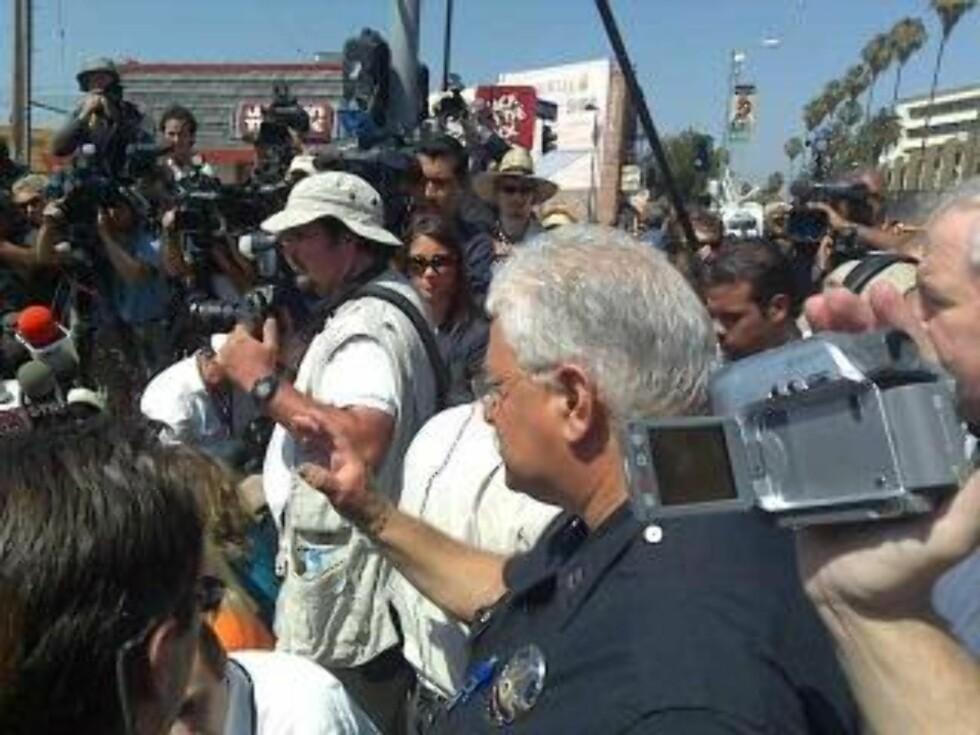 KAOS: Hundrevis av pressefolk er på plass i L.A. Foto: Geir Barstein/DAGBLADET