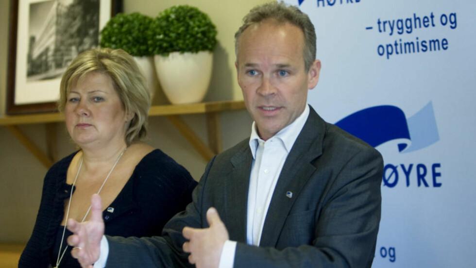 UNDER 2005-VALGET:   - Vi er mest opptatt av valgdagen, ikke målingene, sier Høyres nestleder jan Tore Sanner i en kommentar til junitallene fra Scanfact. Foto: MORTEN HOLM, SCANPIX.