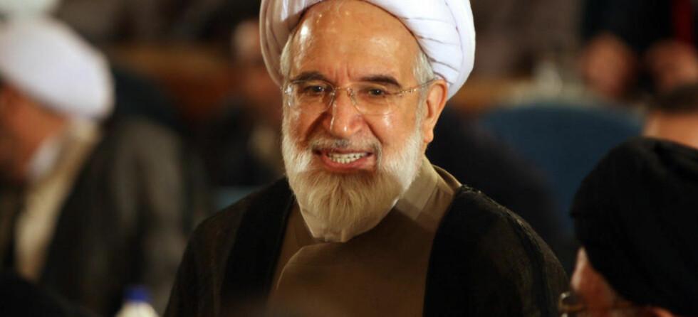 VIL IKKE DELTA I DEN OFFISIELLE VALGGRANSKNINGEN: To av tre utfordrerkandidater, Hossein Mousavi og Mehdi Karroubi (bilde) ved det iranske presidentvalget har takket nei til å delta i granskningen av påstått valgjuks i regi av Vokterrådet. Foto: AFP PHOTO/SCANPIX