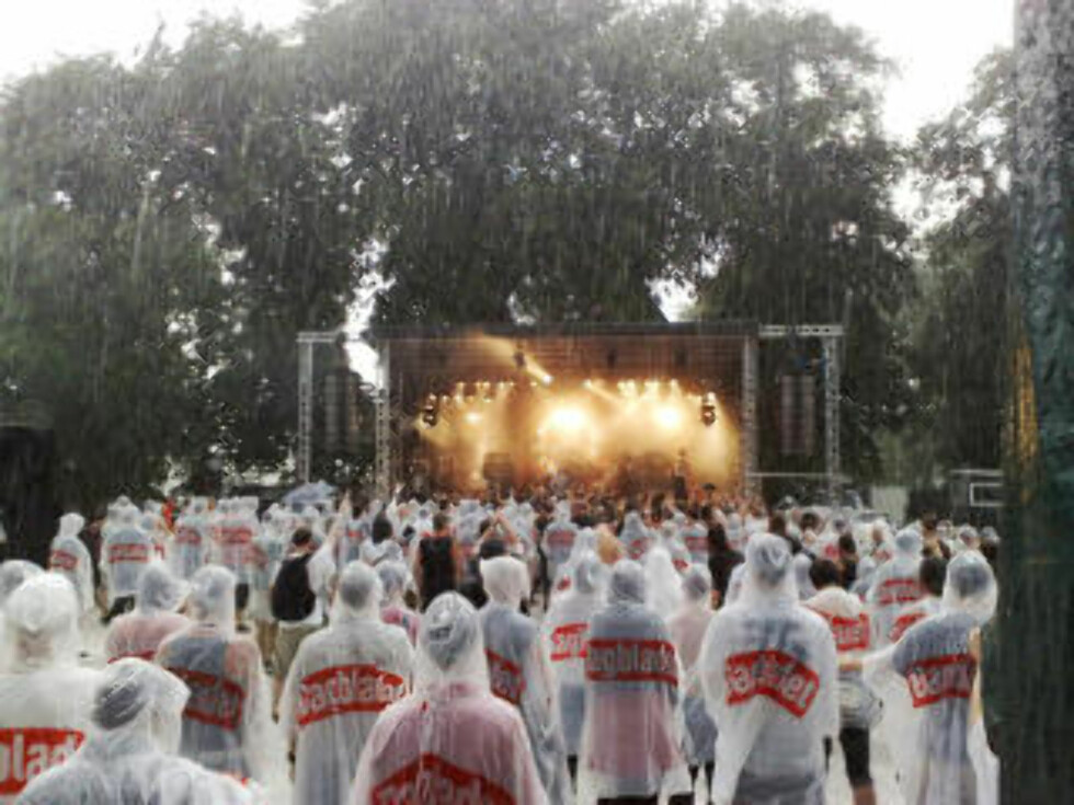 OSLO LIVE: Slik så det ut under Oslo live da været slo om. Foto: HARALD S. KLUNGTVEIT