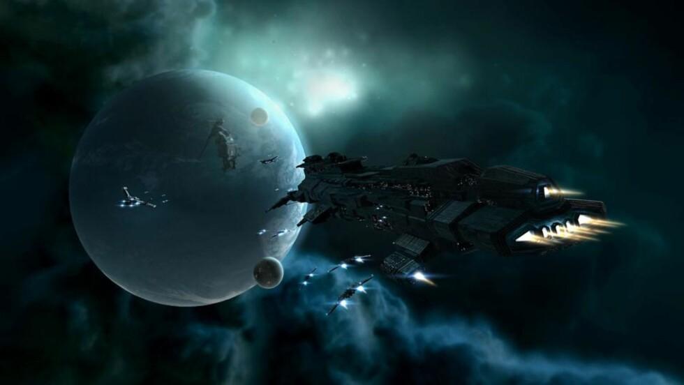ØKONOMISK KAOS: I juni opplevde onlinerollespillet «Eve Online» et banktyveri av enormt omfang. Foto: REUTERS/CCP/SCANPIX