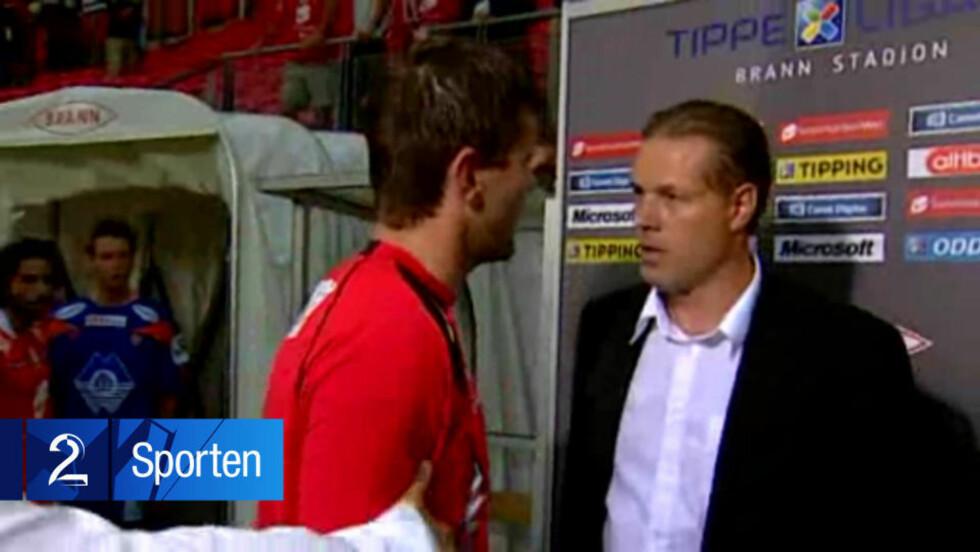 ANKER IKKE: Kjetil Rekdal er ikke fornøyd med straffen fra NFF, men vil ikke anke den.Foto: TV 2 Sporten