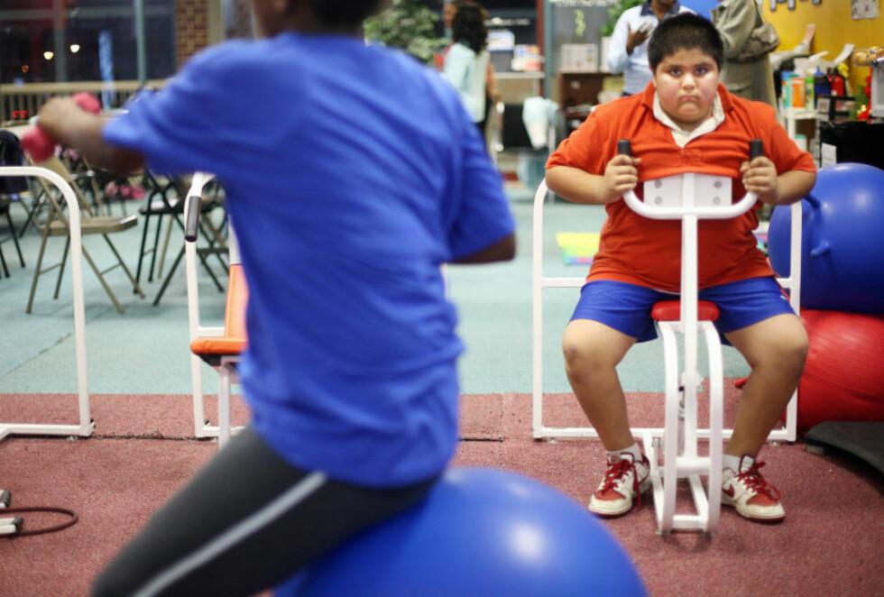LURTE FORSKERNE:  Forskerne skjønte ikke hvorfor noen av barna tilsynelatende var svært aktive og likevel overvektige.  Arkivfoto: AFP PHOTO/TIM SLOAN