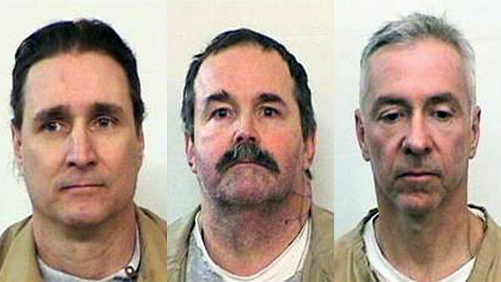 FLYKTET: Via underjordiske rør og tunneler greide tre fanger å rømme fra Indiana State Prison. Fra venstre: Voldtektsdømte Lance Battreal (45) og drapsdømte Charles Smith (48) og Mark Booher (46) er på rømmen. Foto: AP Photo/Indiana State Prison/HANDOUT