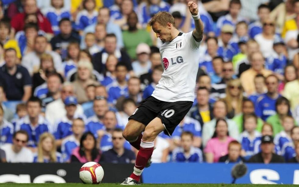 NETTSUS: Erik Nevland viser sommerform for Fulham i Australia. I dag scoret han tre mål på åtte minutter. Foto: SCANPIX/REUTERS/Kieran Doherty