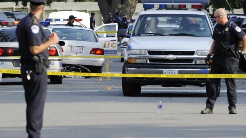 SKYTING: En mann ble drept av politiet i Washington DC. Foto: SCANPIX/REUTERS/Jonathan Ernst    (UNITED STATES)