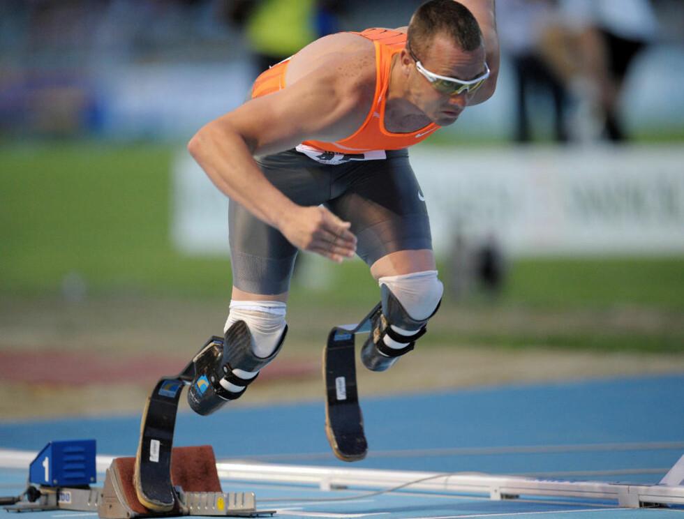 GIR OPP VM: Oscar Pistorius gir opp friidretts-VM i Berlin etter at sørafrikaneren ikke har klart VM-kravet. Foto: SCANPIX/AP Photo/Alberto Ramella