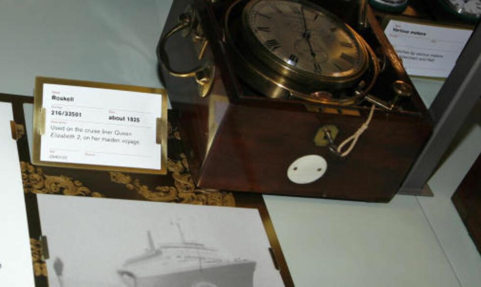 """VIKTIG OPPFINNELSE: Kronometeret var en av 1800-tallets viktigste oppfinnelser for sjøfarende. På museet i Greenwich kan du beundre kronometeret som sto på broa da legendariske """"Queen Elisabeth 2"""" la ut på jomfruturen i 1969."""