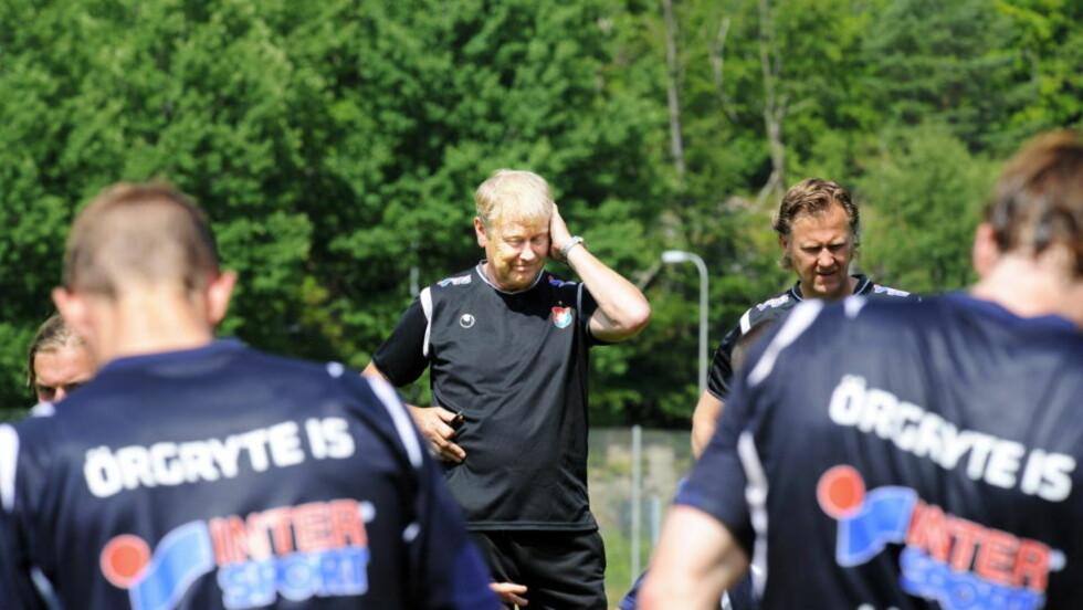 BARE NESTEN: Åge Hareide og Örgryte jaktet sesongens andre seier, men gikk i stedet målløse av banen mot bunnrival Hammarby. Foto: Erik Berglund / DAGBLADET.