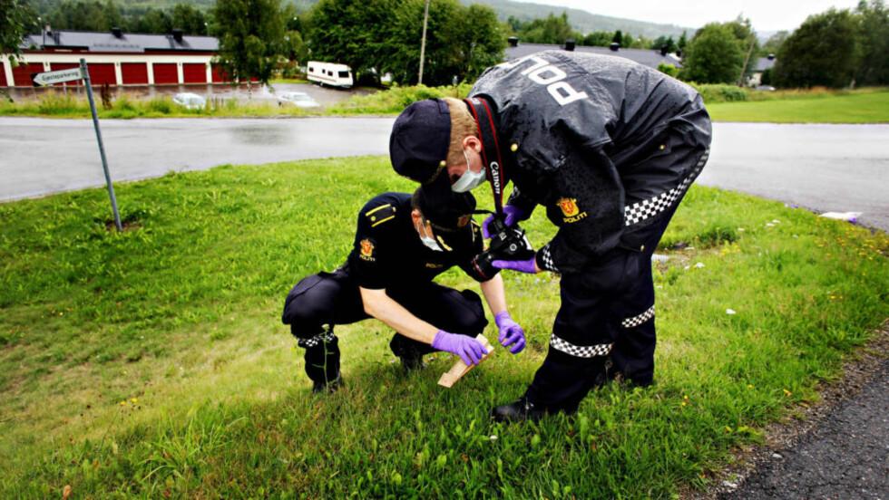 SIKRER SPOR: Politiet håper sporsikring vil gi sikker DNA-match med den siktede i Kongsvingerdrapet. Foto: Frank Karlsen / Dagbladet