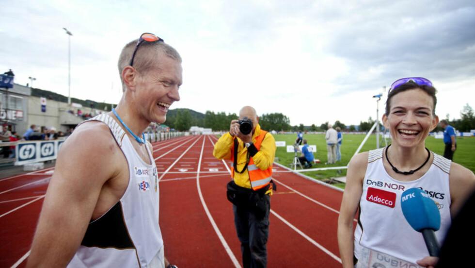 SUVERENE SØSKEN: Kjersti Tysse Plätzer og broren Erik Tysse er sammen med Andreas Thorkildsen Norges største håp foran VM i friidrett. Foto: Kyrre Lien / SCANPIX